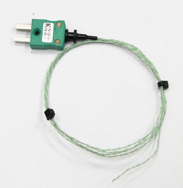 PTFE twisted pair exposed Junction Wire Thermocouple 250°C